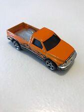 Hot Wheels Orange with Flames Dodge Ram Truck  Die Cast 1/64 Nice Chrome Bed