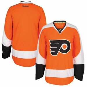 Mens Philadelphia Flyers Reebok EDGE Authentic Home Jersey Size 52 Large
