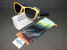 New Oakley Aquatique Frogskins Sunglasses Drop Off/Blue Iridium Retro Yellow
