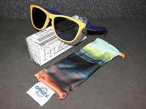 New Oakley Aquatique Frogskins Sunglasses Drop Off/Blue Iridium Retro Yellow