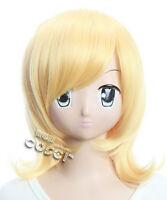 W-98 VOCALOID KAGAMINE RIN 17 7/10in Cosplay  Wig heat resistant blond blonde