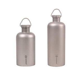 EDC Pure Titanium Coffee Tea Bottle Portable Outdoor Camping Travel Gear Tools