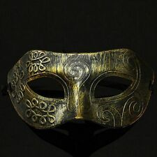 Men Antique Burnished Silver/Gold Mask Party Venetian Gras Mardi Masquerade