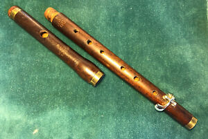 Antique 19th Century Military Flute/piccolo Henry Potter London. Rose Wood.