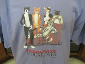 Desperate Housecats Cats 2005 Tom Griffin art t shirt RaRe housewives parody