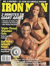 OCT 2010 IRON MAN vintage body building magazine DAN DECKER