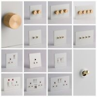 DESIGNER SOCKETS AND SWITCHES - White and Gold