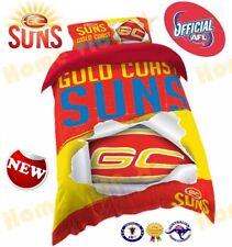 OFFICIAL AFL 2018 GOLD COAST SUNS QUILT DOONA DUVET COVER SET ~ BRAND NEW SINGLE