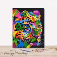 REF326 - PEINTURE PAR NUMEROS - KIT DIY - JAGUAR POP ART