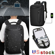 Men's Anti-Thief 15.6'' USB Business Laptop Backpack Travel Bag Large Capacity