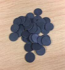 Silicone Rubber Disc 22mm diameter x 2mmthk,dark grey,25 per pack