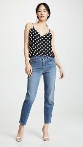 L'AGENCE Polka Dot SILK Camisole top size L