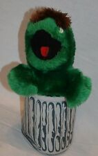 "Oscar The Grouch Sesame Street Vtg Plush Stuffed Animal Toy 12"" Garbage Can"