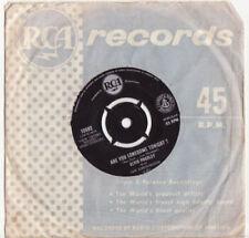 Elvis Presley Single Rated 1960s Vinyl Music Records