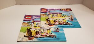 Lego Friends Instruction Manuals Only #41037 - Books 1 & 2 - Beach House