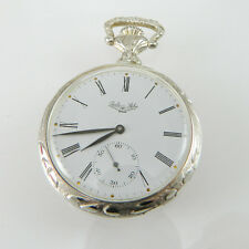 Orologio da tasca in argento 925 Paolo Saba a carica manuale decorato