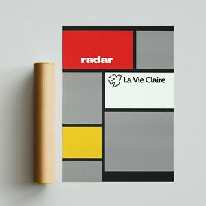 La Vie Claire Cycling Team Jersey Poster Print A4 A3 A2 Wall Art Tour de France