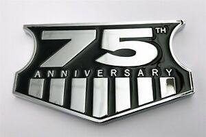 """JEEP 75TH ANNIVERSARY EMBLEM NEW 3.75"""" X 2.25"""""""