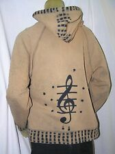 Allen Wickler Musical Treble Clef Hoodie Sweatshirt - Womens XL  Tie Dye Like