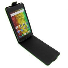 Tasche für MEDION Life E5001 FlipStyle Handytasche Schutz Hülle Flip Case Grün