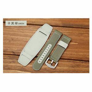 Sports Nylon Strap PU Leather Watch Band 18mm 24mm 20mm 22mm Wristbands Bracelet