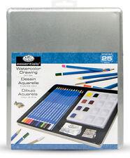 Aquarell - Kunst-Set - Malen mit Wasserfarben - Aquarellstifte - Malset 25 Teile