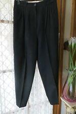 VINTAGE  Style 40'S ~ TARGET  ~ Black Pleat Waist PANTS * Size 14 *