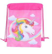 Unicorn Drawstring Backpack Girls Princess Swim Kids Shoes Party Bag
