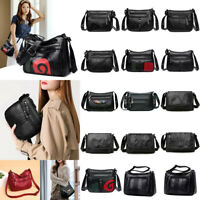 Women Ladies PU Leather Shoulder Handbag Tote Purse Satchel Messenger Travel Bag