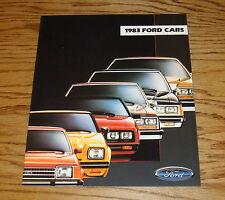 Original 1983 Ford Full Line Sales Brochure 83 Mustang Crown Victoria