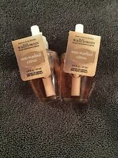 2 BATH & BODY WORKS SUN-WASHED CITRUS WALLFLOWERS 0.8 OZ HTF