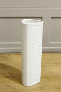 20th century German White porcelain vase #4