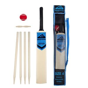 Graydon Junior wooden Cricket Set size- 3,4,5,6 - carry bag -soft tennis ball