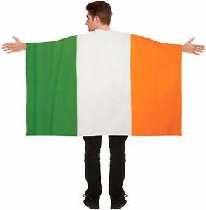 St Patricks Day Irish Flag Cape Wearable Ireland Paddy's Party Fancy Dress Up