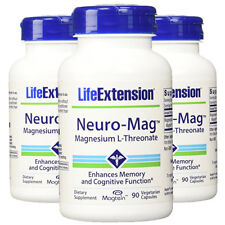 Neuro-Mag Magnesium L-Threonate from 2000 mg Magtein - Life Extension 3X90caps