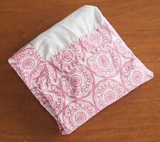 "Dwell Studio Baby Girls Cotton Pink & White Medallion Floral Crib Skirt 50""x 27"""