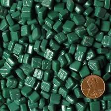 8mm Mosaic Glass Tiles - 2 Ounces About 87 Tiles - Light Forest Green