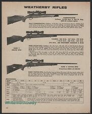 1975 WEATHERBY Varmintmaster, Mark V Deluxe and Custom Rifle w/scope PRINT AD