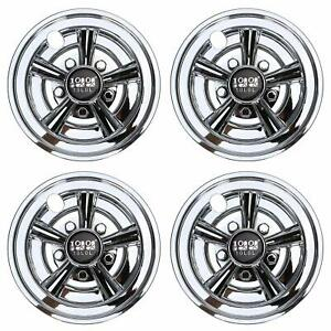 "4 x Golf Cart Chrome Wheel Hub Caps Covers For 8"" YAMAHA CLUB CAR EZGO Wheel AU"