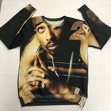 2Pac Mens Sweatshirt Crewneck Size Large Black Long Sleeve