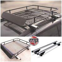 M-Way Locking Aluminium 135cm Roof Rail Bars & Car Rack Tray for VW Touran 03-19