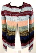 Kimchi Blue Sweater XS Womens Cardigan Colorful Stripe MOHAIR Blend