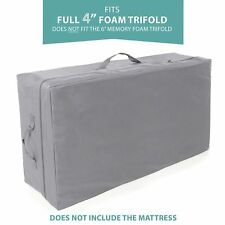 """Carry Case Milliard Tri-Fold Mattress   4"""" Full   Does Not Fit 6"""""""