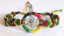 Bob Marley Rasta Dreamcatcher Reggae Hand Woven Bracelet