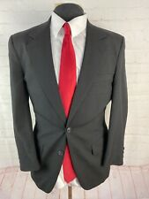 Halston Men's Solid Black Blazer 38R $225
