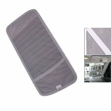 Grey Car Sun Visor 12 Disc CD DVD Card Case Wallet Storage Holder Organizer AD