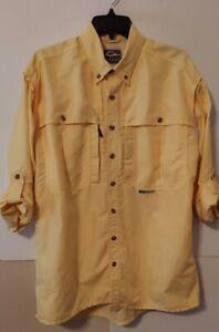 Drake Waterfowl Vented Fishing Adjustable Sleeve Shirt Mens Size Small