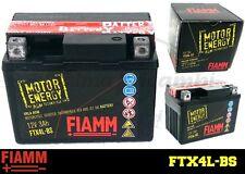 FTX4L-BS BATTERIA MOTO FIAMM MOTOR ENERGY YUASA (YTX4L-BS) 3Ah 40A  + LIQUIDO