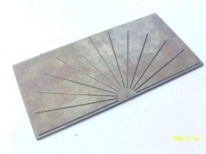 Green Engraving Pantograph Pattern Template. Electronics Dial Plate