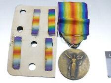 K1M) Médaille militaire interallié guerre 1914 1918 armée french medal + rappels
